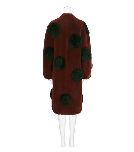 ANNE VEST(アンベスト)のLayla Coat w/Dots Reversible-BORDEAUX-AW160121017-63 詳細画像2