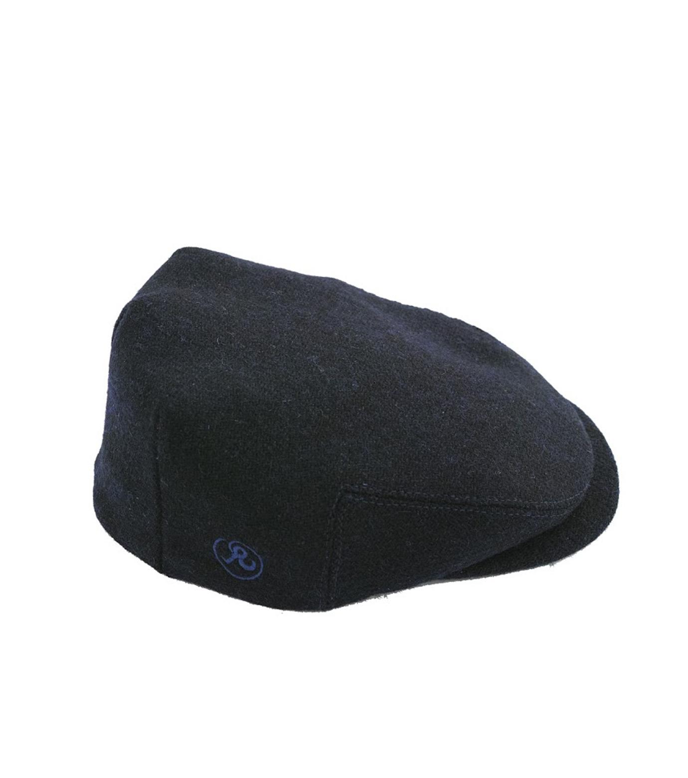 Richardson Magazine(リチャードソン マガジン)のHarris Tweed Flat Cap-NAVY(キャップ/cap)-AW16045-93 拡大詳細画像1