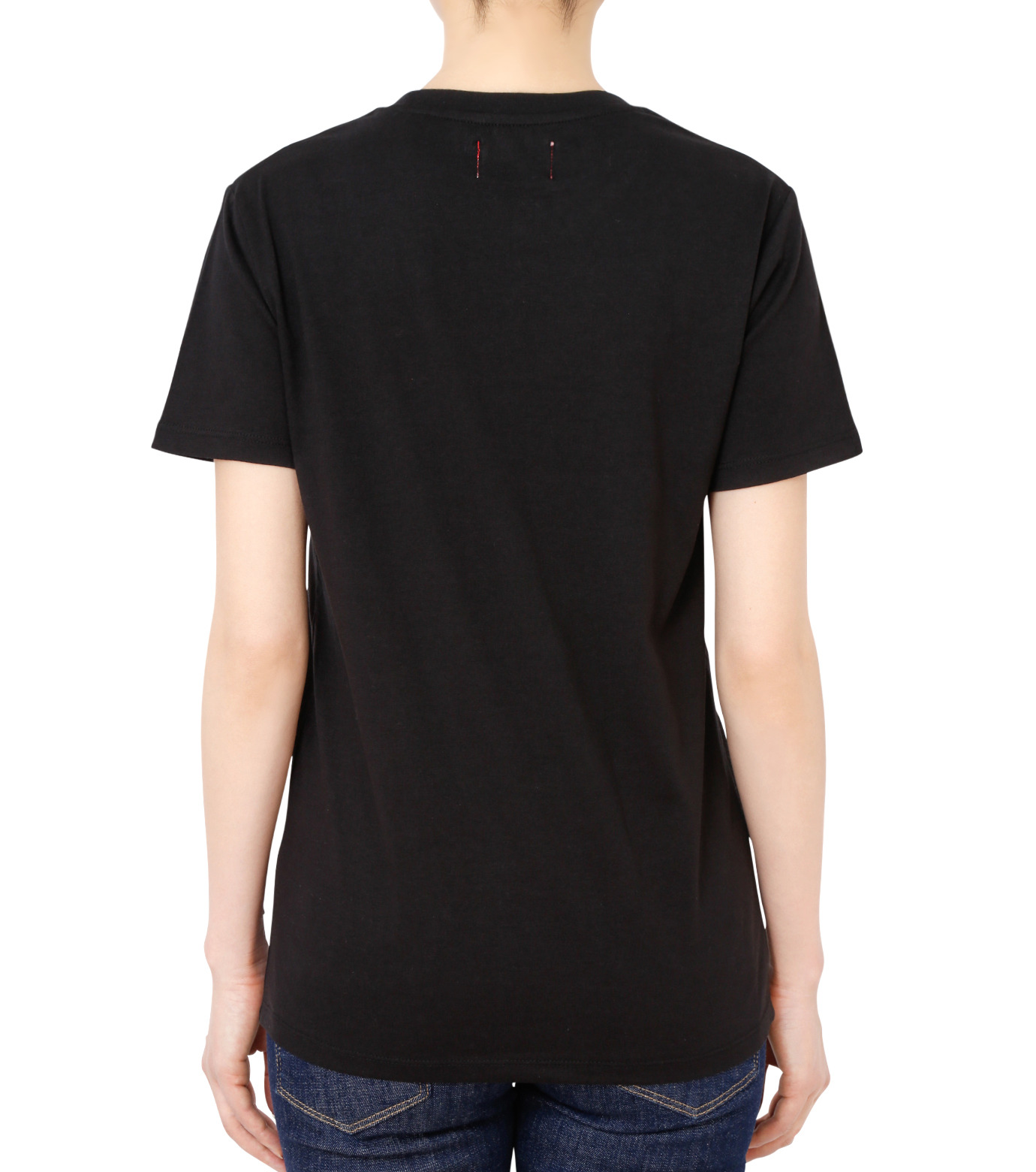 No One(ノーワン)のDots BELLEVILLE HILLS T-shirt-BLACK(カットソー/cut and sewn)-BA525-13 拡大詳細画像2