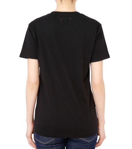 No One(ノーワン)のDots BELLEVILLE HILLS T-shirt-BLACK(カットソー/cut and sewn)-BA525-13 詳細画像2