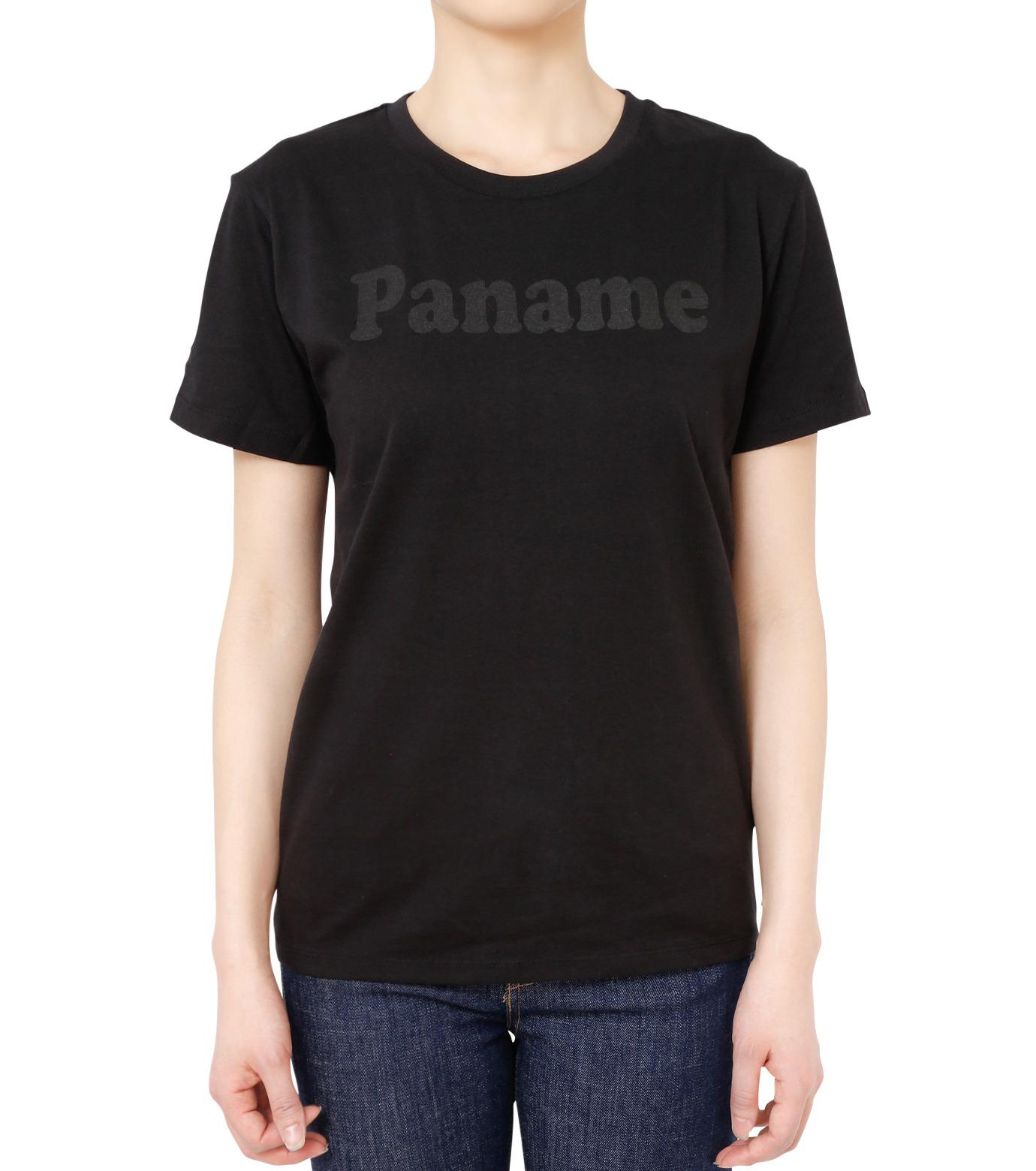 No One(ノーワン)のPanama T-shirt-BLACK(カットソー/cut and sewn)-BA545-13 拡大詳細画像1