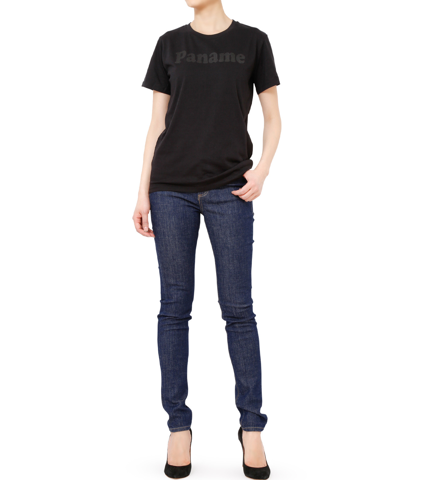 No One(ノーワン)のPanama T-shirt-BLACK(カットソー/cut and sewn)-BA545-13 拡大詳細画像3