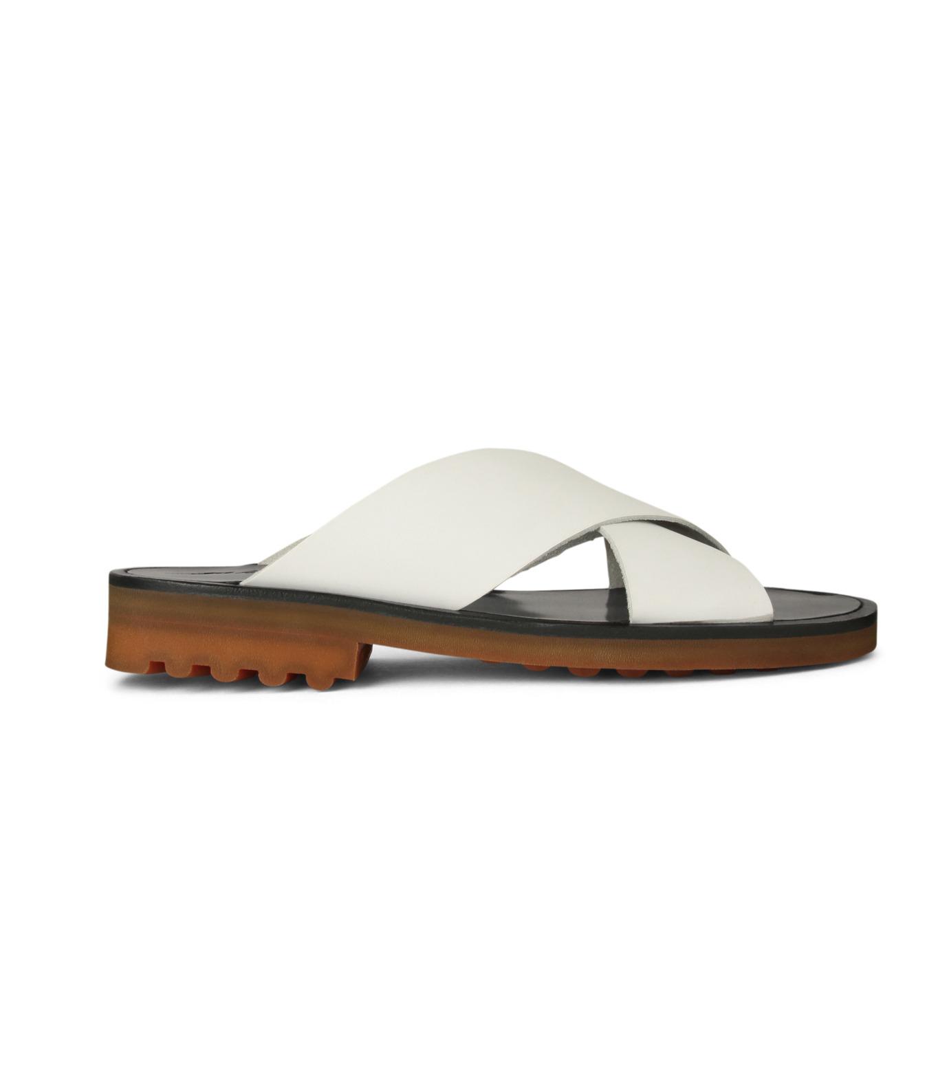 Robert Clergerie(ロベール・クレジュリー)のCross Strap Sandal-WHITE(シューズ/shoes)-BART01-T-4 拡大詳細画像1