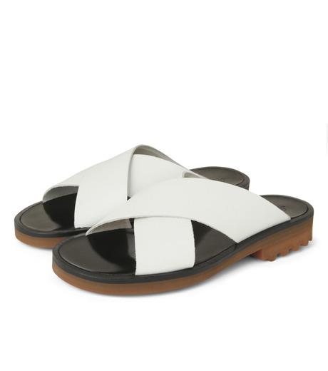 Robert Clergerie(ロベール・クレジュリー)のCross Strap Sandal-WHITE(シューズ/shoes)-BART01-T-4 詳細画像3