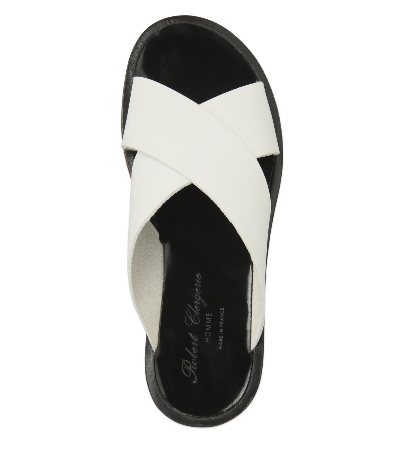 Robert Clergerie(ロベール・クレジュリー)のCross Strap Sandal-WHITE(シューズ/shoes)-BART01-T-4 拡大詳細画像4
