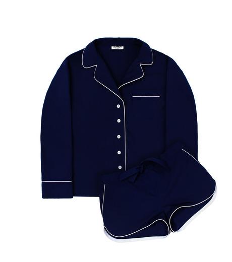 SLEEPER(スリーパー)のRoyal Blue Pajama Set with Shorts-NAVY(LINGERIE/LINGERIE)-BC0045-93 詳細画像1