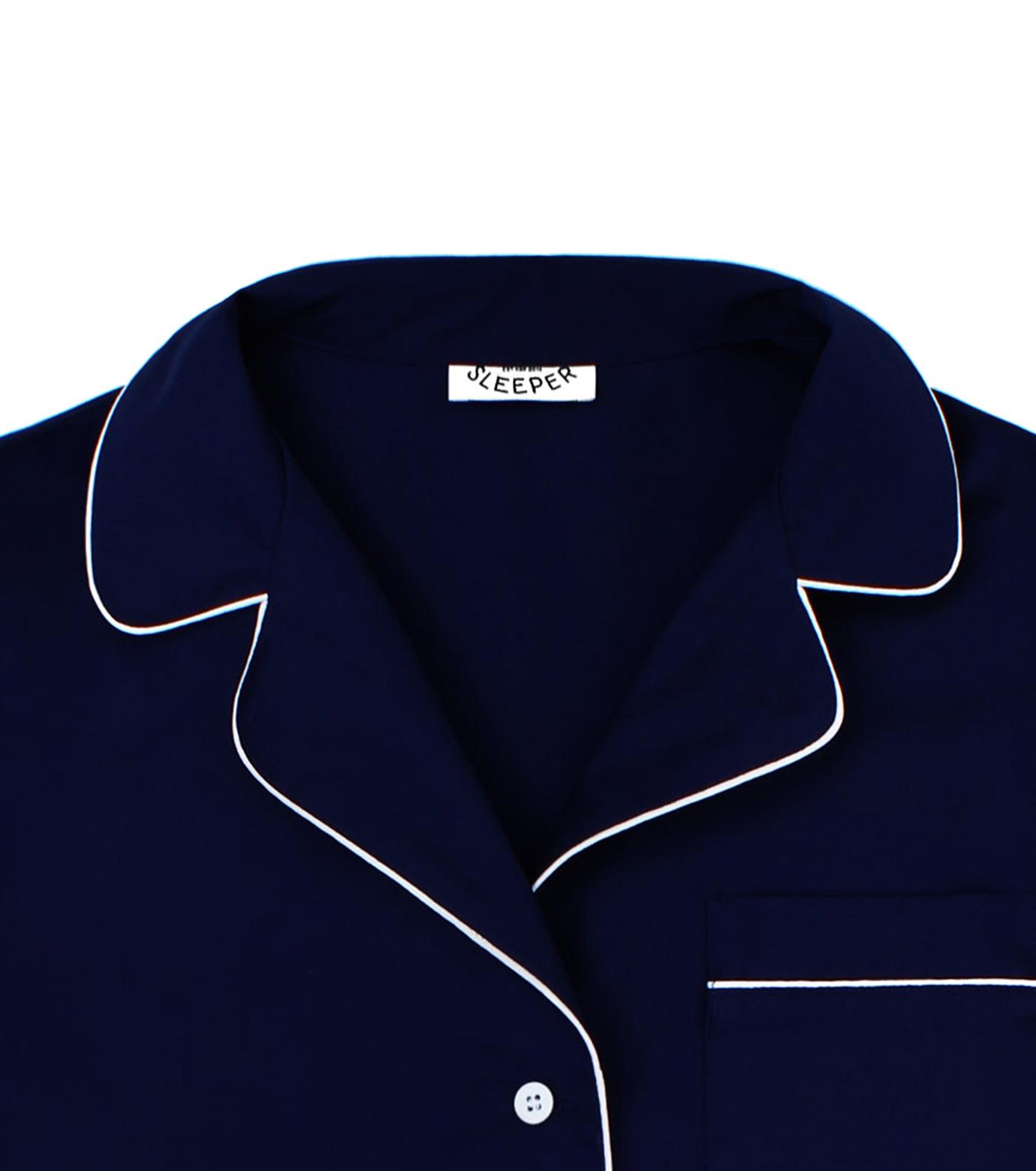 SLEEPER(スリーパー)のRoyal Blue Pajama Set with Shorts-NAVY(LINGERIE/LINGERIE)-BC0045-93 拡大詳細画像2