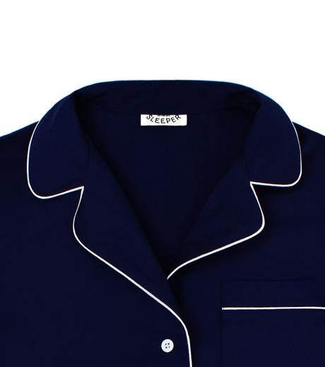 SLEEPER(スリーパー)のRoyal Blue Pajama Set with Shorts-NAVY(LINGERIE/LINGERIE)-BC0045-93 詳細画像2