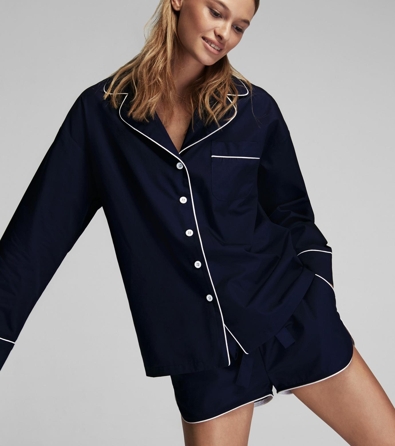 SLEEPER(スリーパー)のRoyal Blue Pajama Set with Shorts-NAVY(LINGERIE/LINGERIE)-BC0045-93 拡大詳細画像3