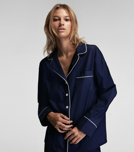 SLEEPER(スリーパー)のRoyal Blue Pajama Set with Shorts-NAVY(LINGERIE/LINGERIE)-BC0045-93 詳細画像4