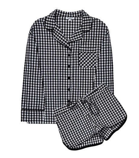 SLEEPER(スリーパー)のBlack Gingham Pajama with Shorts-GRAY(LINGERIE/LINGERIE)-BC0115-11 詳細画像1
