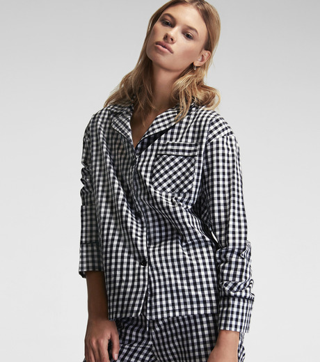 SLEEPER(スリーパー)のBlack Gingham Pajama with Shorts-GRAY(LINGERIE/LINGERIE)-BC0115-11 詳細画像3