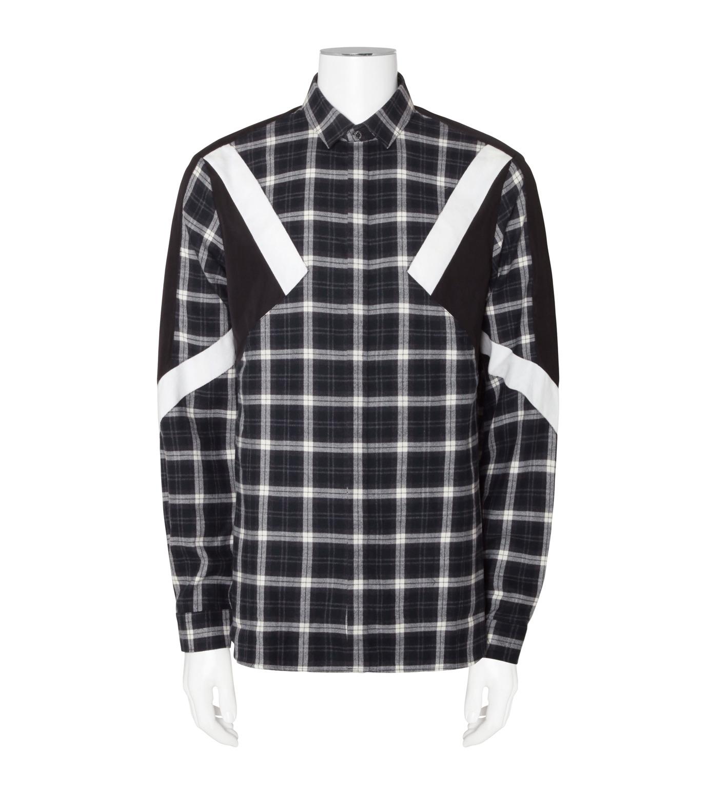 Neil Barrett(ニール バレット)のCheck Shirt-WHITE(シャツ/shirt)-BCM624V-4 拡大詳細画像1
