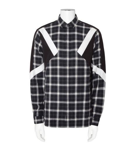 Neil Barrett(ニール バレット)のCheck Shirt-WHITE(シャツ/shirt)-BCM624V-4 詳細画像1