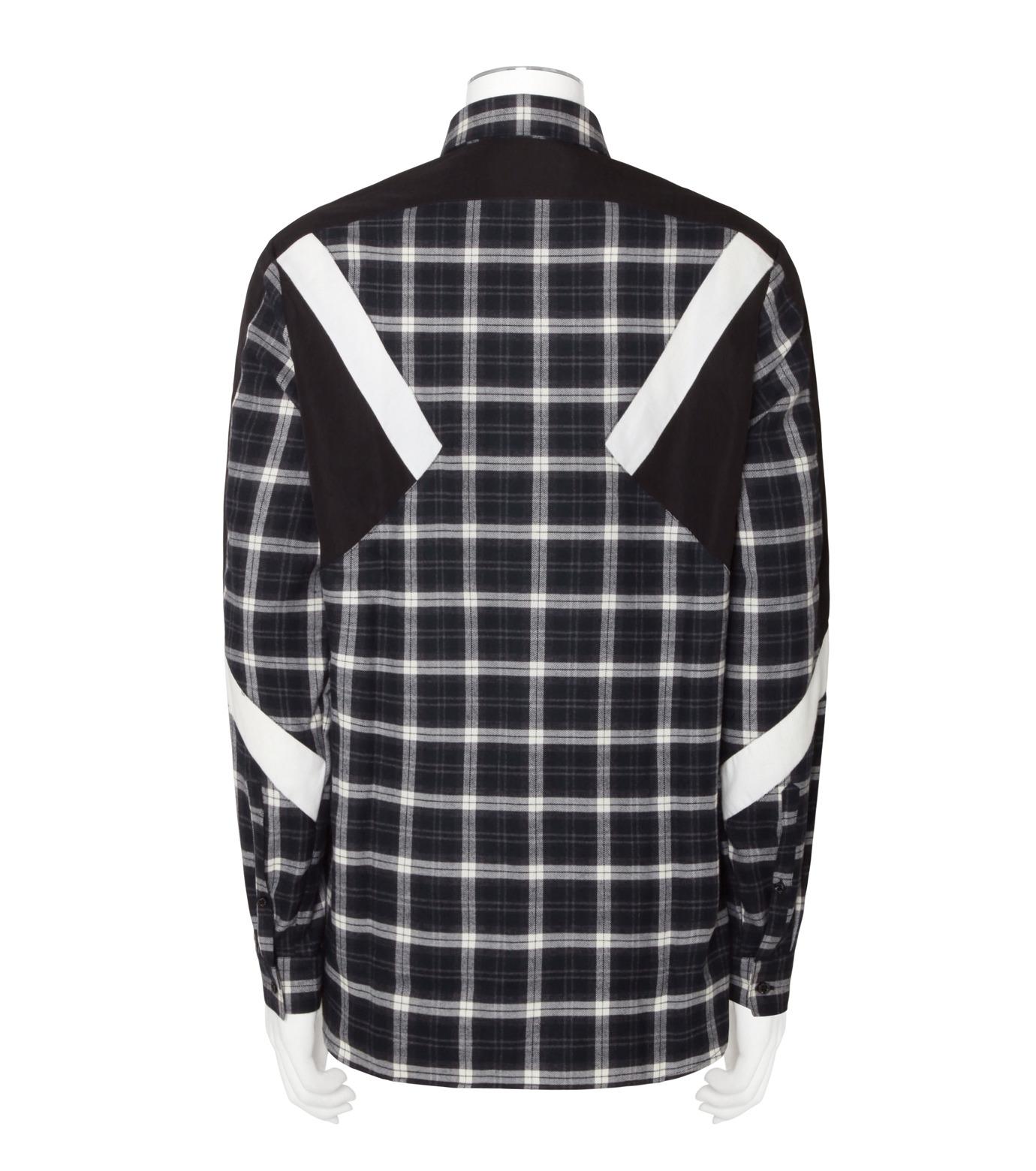 Neil Barrett(ニール バレット)のCheck Shirt-WHITE(シャツ/shirt)-BCM624V-4 拡大詳細画像2