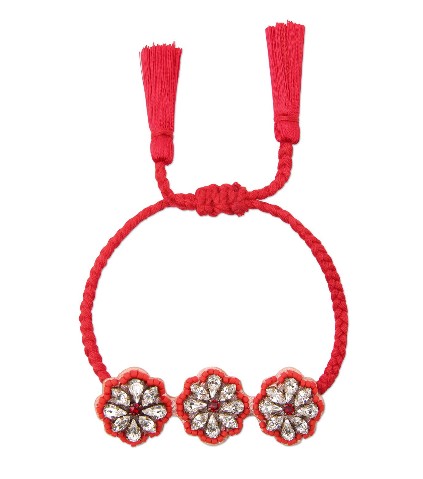 Shourouk(シュローク)のAthna Bracelet Flower-RED(ブレスレット/bracelet)-BCSS16-003-62 拡大詳細画像1