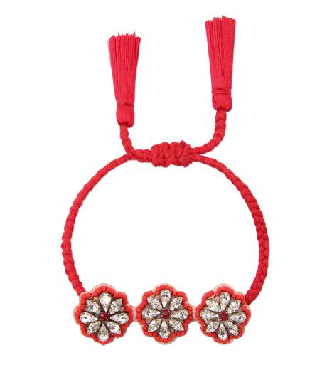 Shourouk(シュローク)のAthna Bracelet Flower-RED(ブレスレット/bracelet)-BCSS16-003-62 詳細画像1