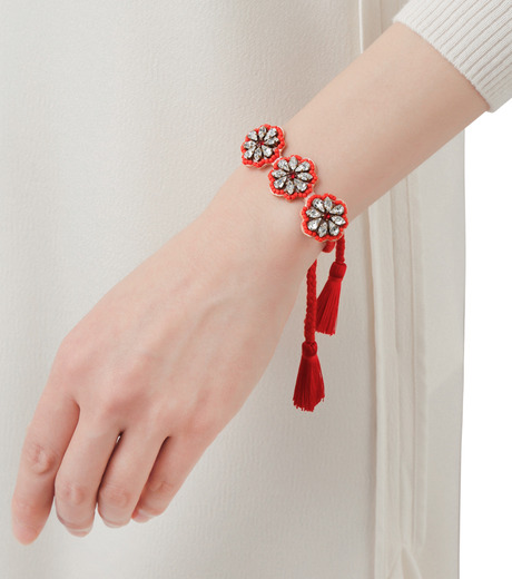 Shourouk(シュローク)のAthna Bracelet Flower-RED(ブレスレット/bracelet)-BCSS16-003-62 詳細画像2