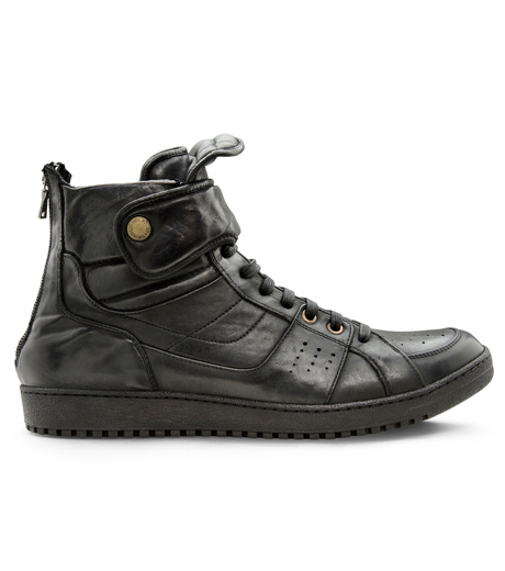 Neil Barrett(ニール バレット)のLeather Sneaker-BLACK-BCT43 詳細画像1