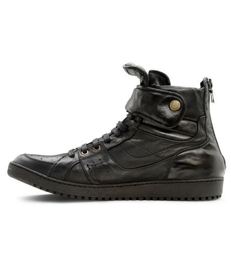 Neil Barrett(ニール バレット)のLeather Sneaker-BLACK-BCT43 詳細画像2