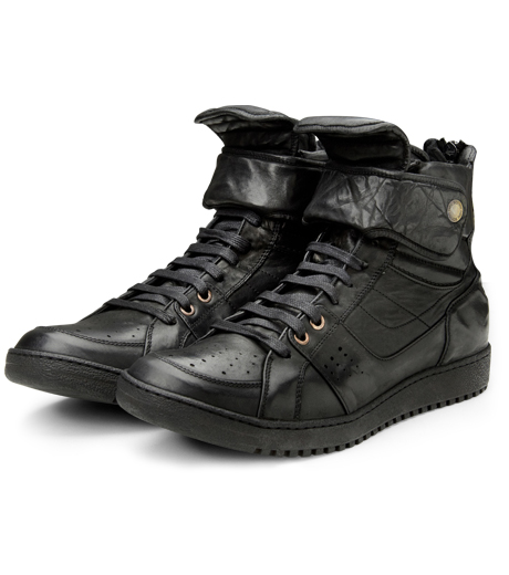 Neil Barrett(ニール バレット)のLeather Sneaker-BLACK-BCT43 詳細画像4
