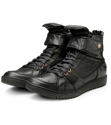 Neil Barrett(ニール バレット)のLeather Sneaker-BLACK-BCT43 詳細画像4
