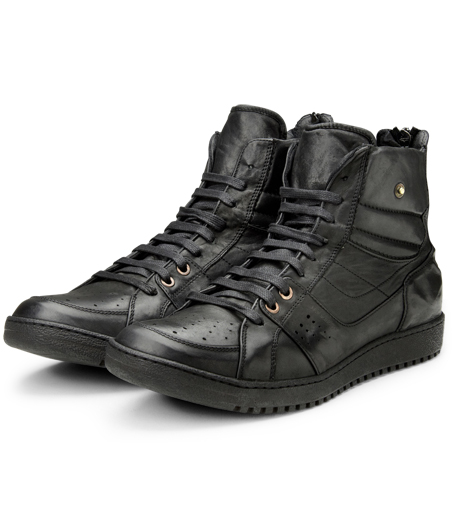 Neil Barrett(ニール バレット)のLeather Sneaker-BLACK-BCT43 詳細画像5