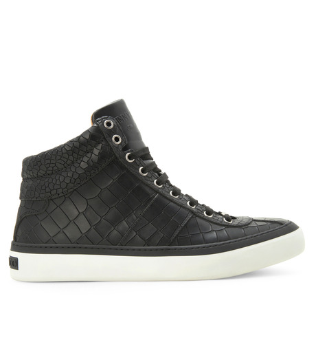 Jimmy Choo(ジミーチュウ)のCroco emboss sneaker-BLACK-BELGRAVI-CCL-13 詳細画像1