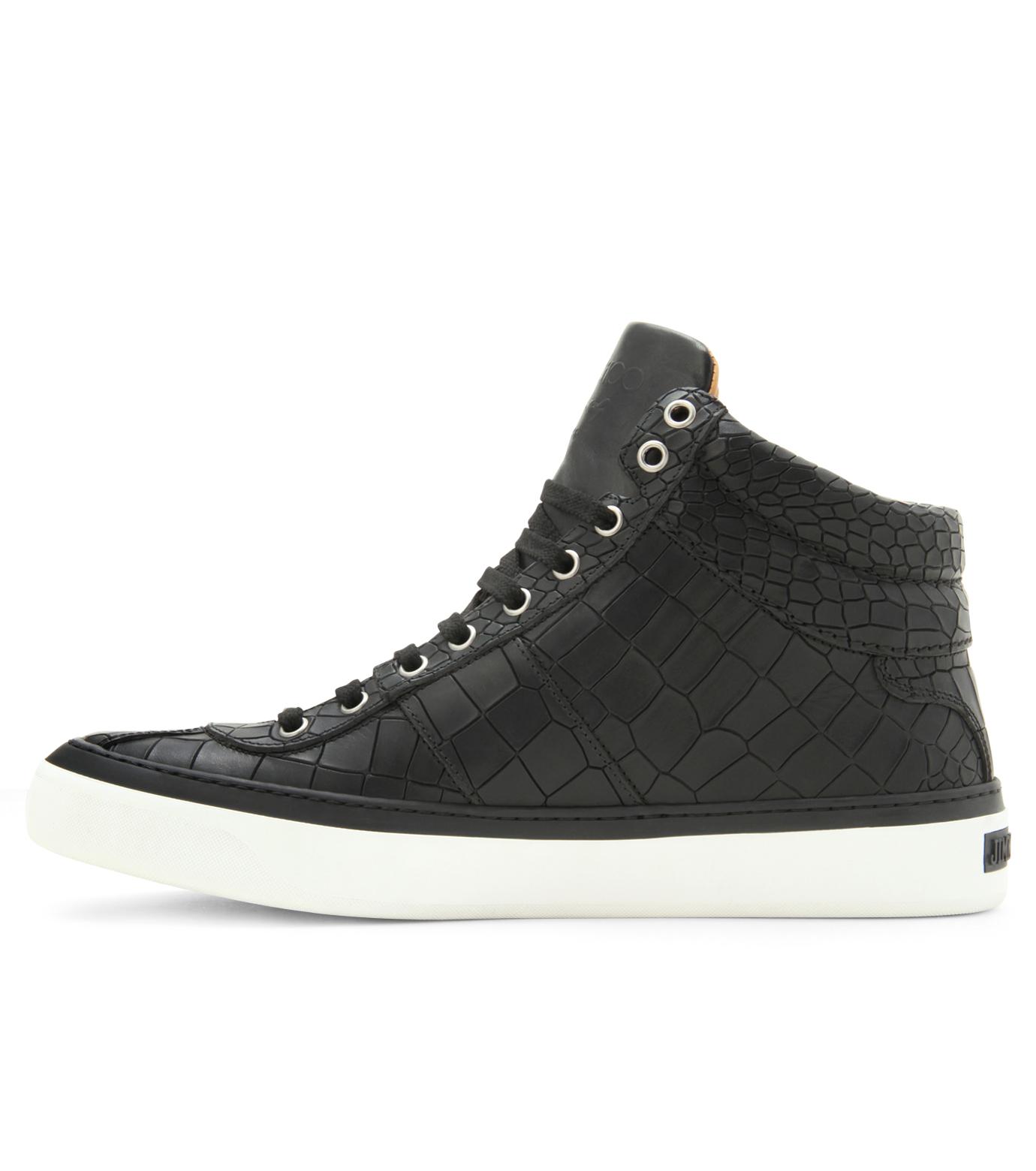 Jimmy Choo(ジミーチュウ)のCroco emboss sneaker-BLACK-BELGRAVI-CCL-13 拡大詳細画像2