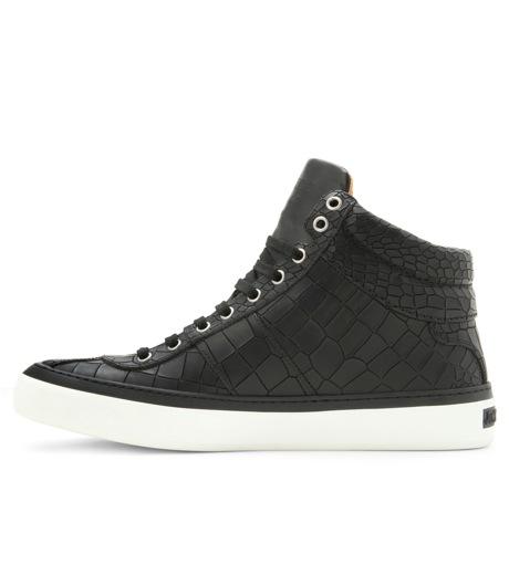 Jimmy Choo(ジミーチュウ)のCroco emboss sneaker-BLACK-BELGRAVI-CCL-13 詳細画像2