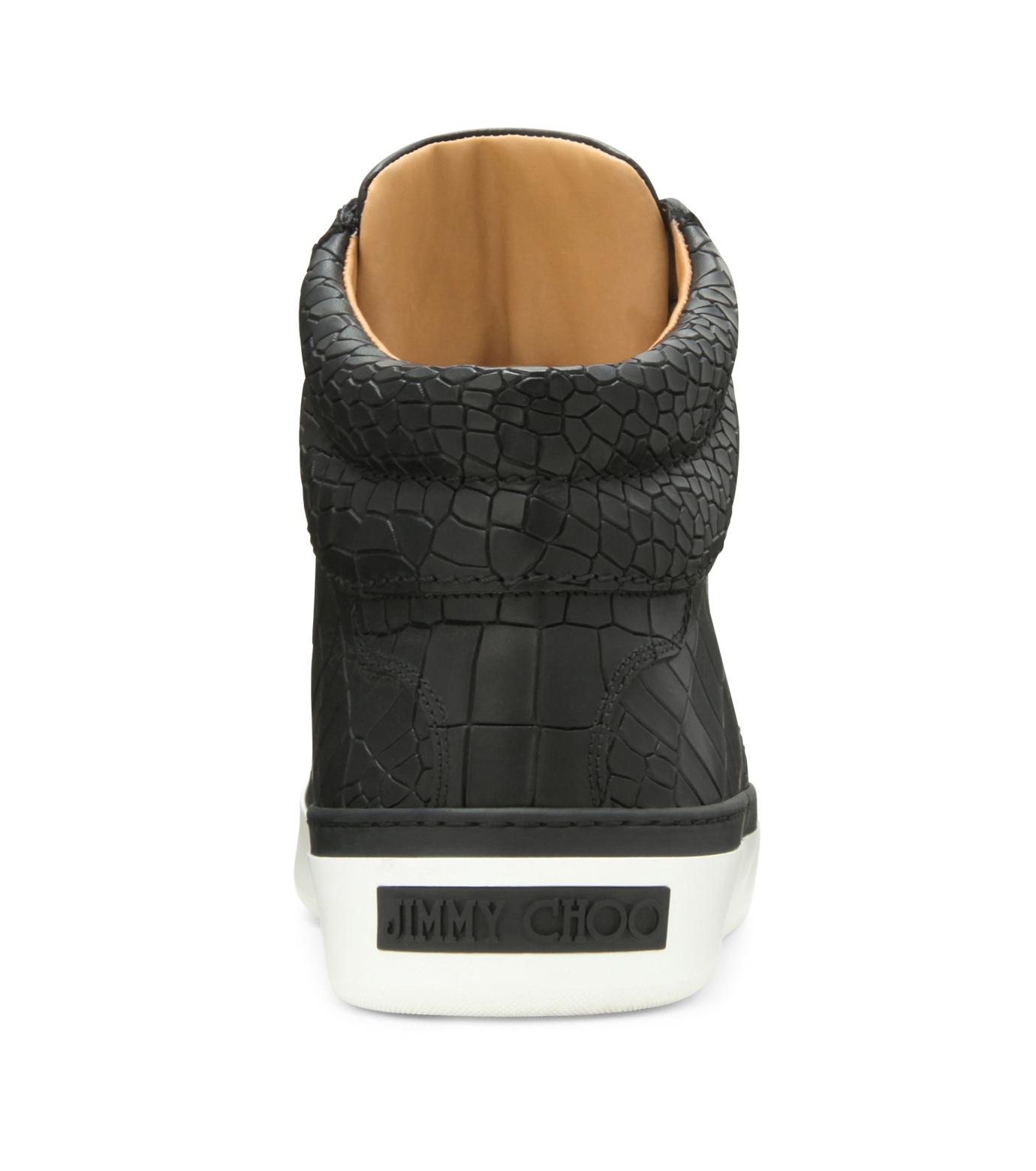 Jimmy Choo(ジミーチュウ)のCroco emboss sneaker-BLACK-BELGRAVI-CCL-13 拡大詳細画像3