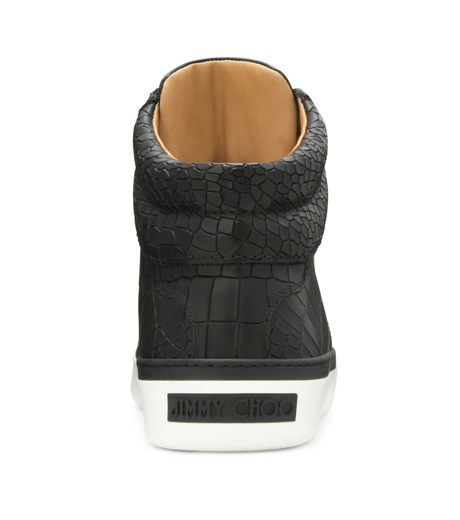 Jimmy Choo(ジミーチュウ)のCroco emboss sneaker-BLACK-BELGRAVI-CCL-13 詳細画像3