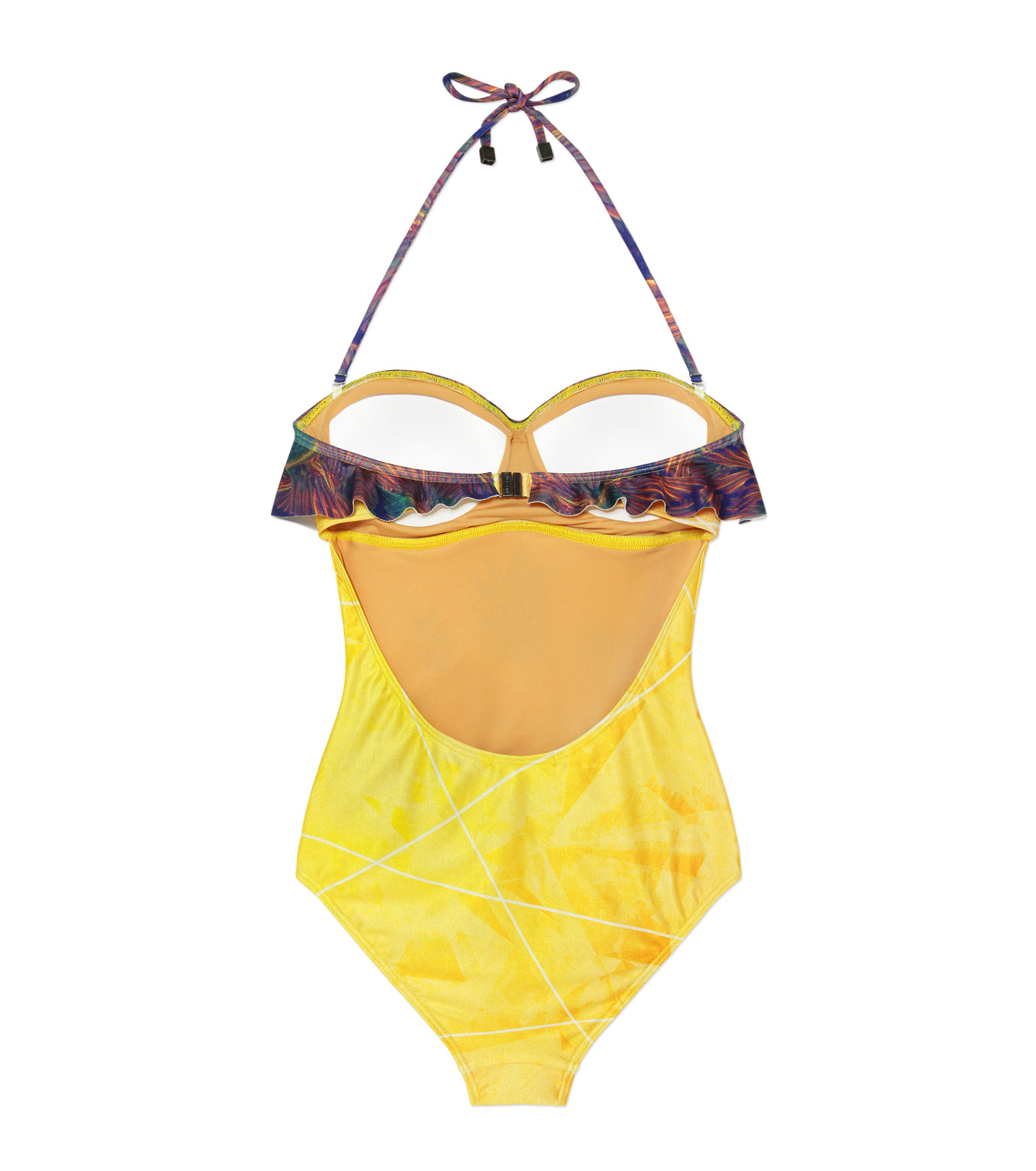 We Are Handsome(ウィー アー ハンサム)のBandeau Frill One Piece-YELLOW(SWIMWEAR/SWIMWEAR)-BFOP161402-32 拡大詳細画像2
