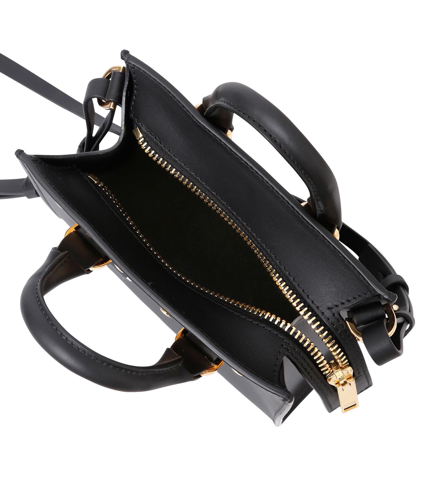 Sophie Hulme(ソフィーヒュルム)のBox Tote Bag-BLACK(ショルダーバッグ/shoulder bag)-BG070LE-13 拡大詳細画像4