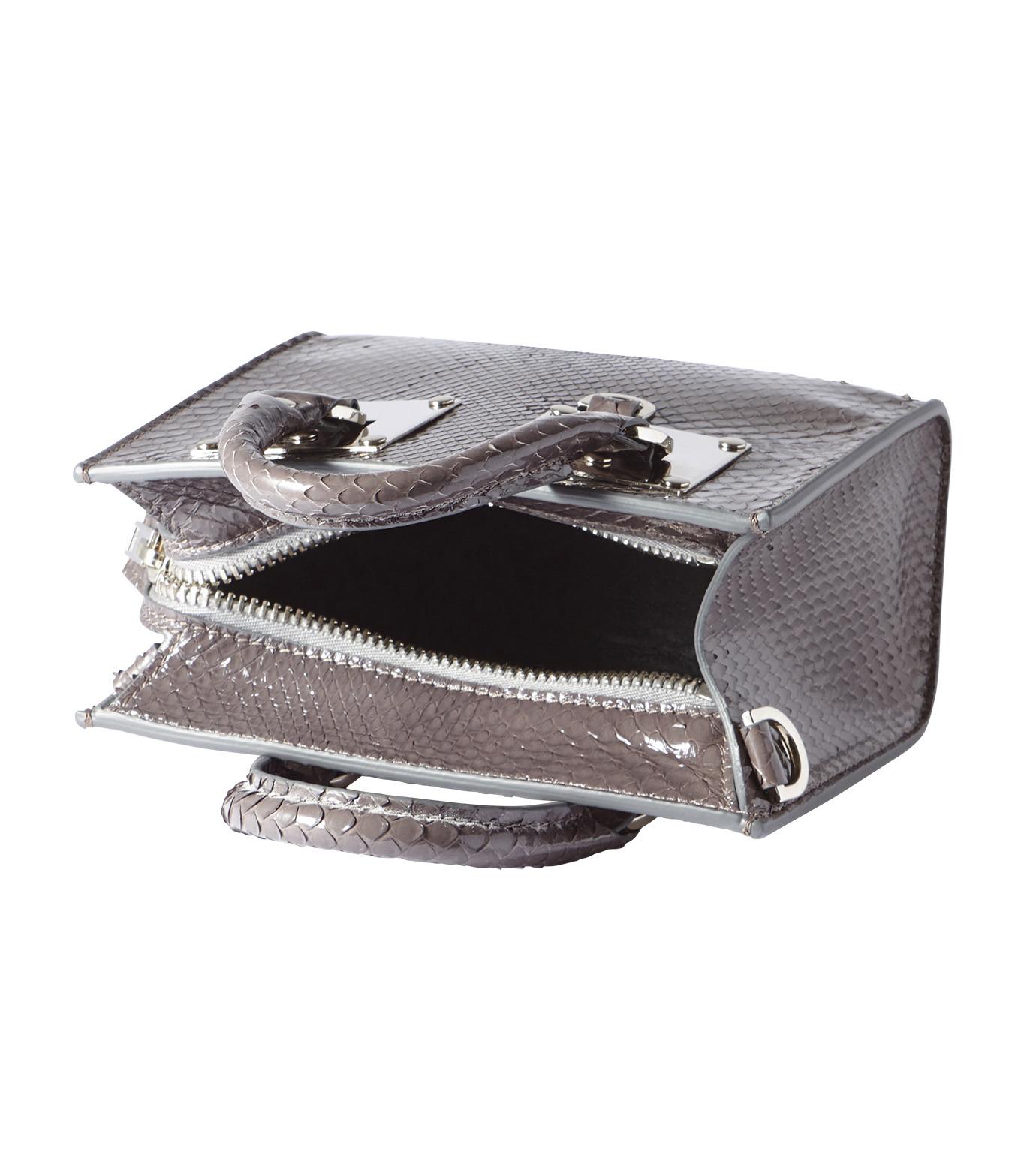 Sophie Hulme(ソフィーヒュルム)のBox Albion Snake w/Silver-GRAY(バッグ/bag)-BG070SN-L 拡大詳細画像4