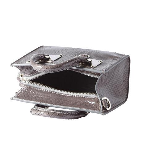 Sophie Hulme(ソフィーヒュルム)のBox Albion Snake w/Silver-GRAY(バッグ/bag)-BG070SN-L 詳細画像4
