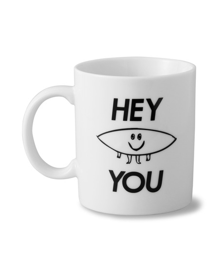 HEY YOU !(ヘイユウ)のBOARD MUG CUP-WHITE(キッチン/kitchen)-BOAD-MAG-4 詳細画像1