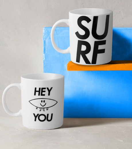 HEY YOU !(ヘイユウ)のBOARD MUG CUP-WHITE(キッチン/kitchen)-BOAD-MAG-4 詳細画像3