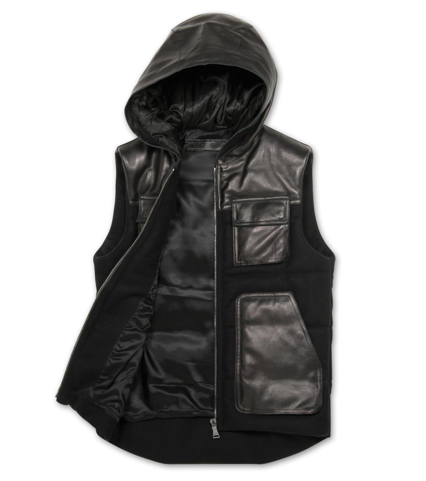 Neil Barrett(ニール バレット)のDown vest-BLACK-BPE257-13 拡大詳細画像2