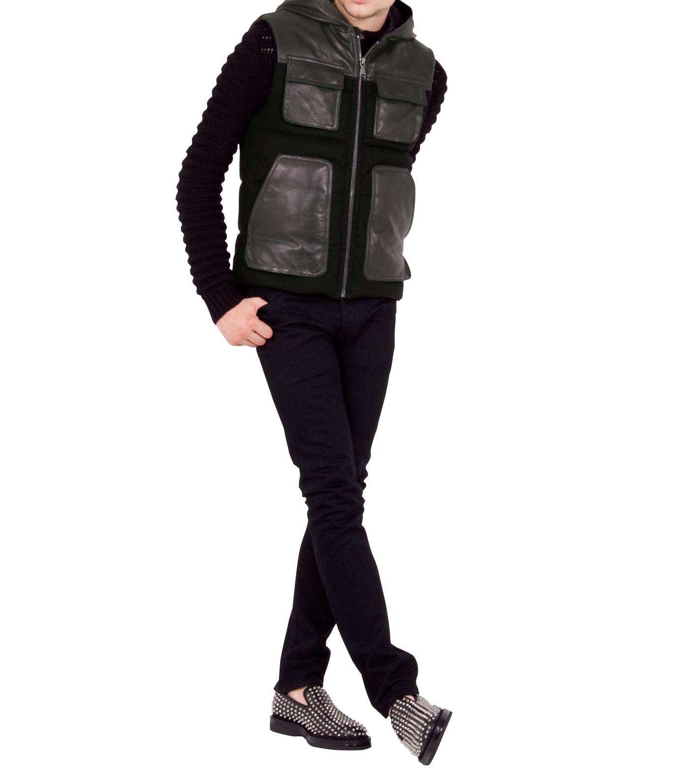 Neil Barrett(ニール バレット)のDown vest-BLACK-BPE257-13 拡大詳細画像3
