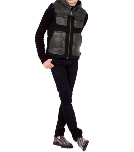 Neil Barrett(ニール バレット)のDown vest-BLACK-BPE257-13 詳細画像3