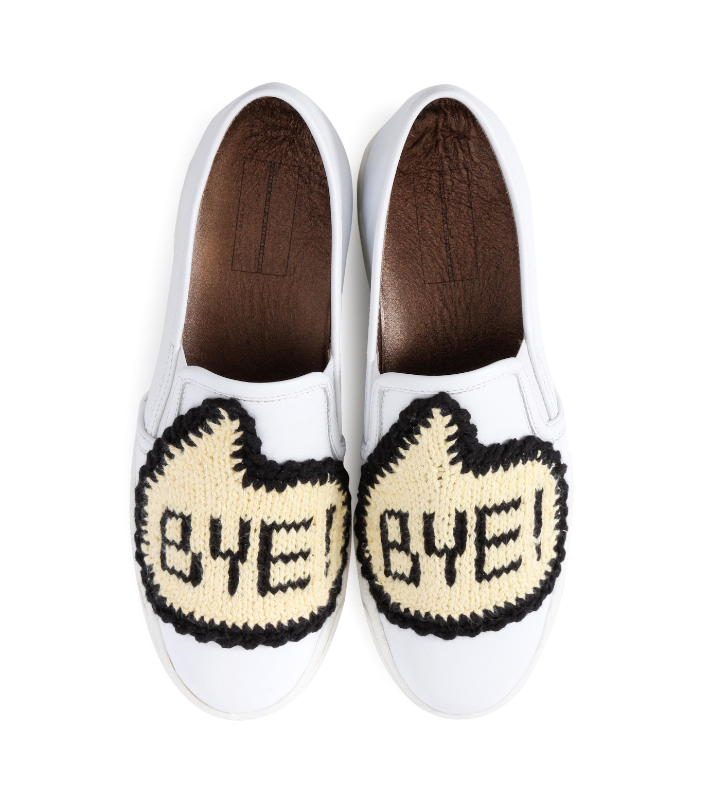 Michaela Buerger(ミカエラ バーガー)のSneaker Bye Bye-WHITE(スニーカー/sneaker)-BYEBYE-4 拡大詳細画像4