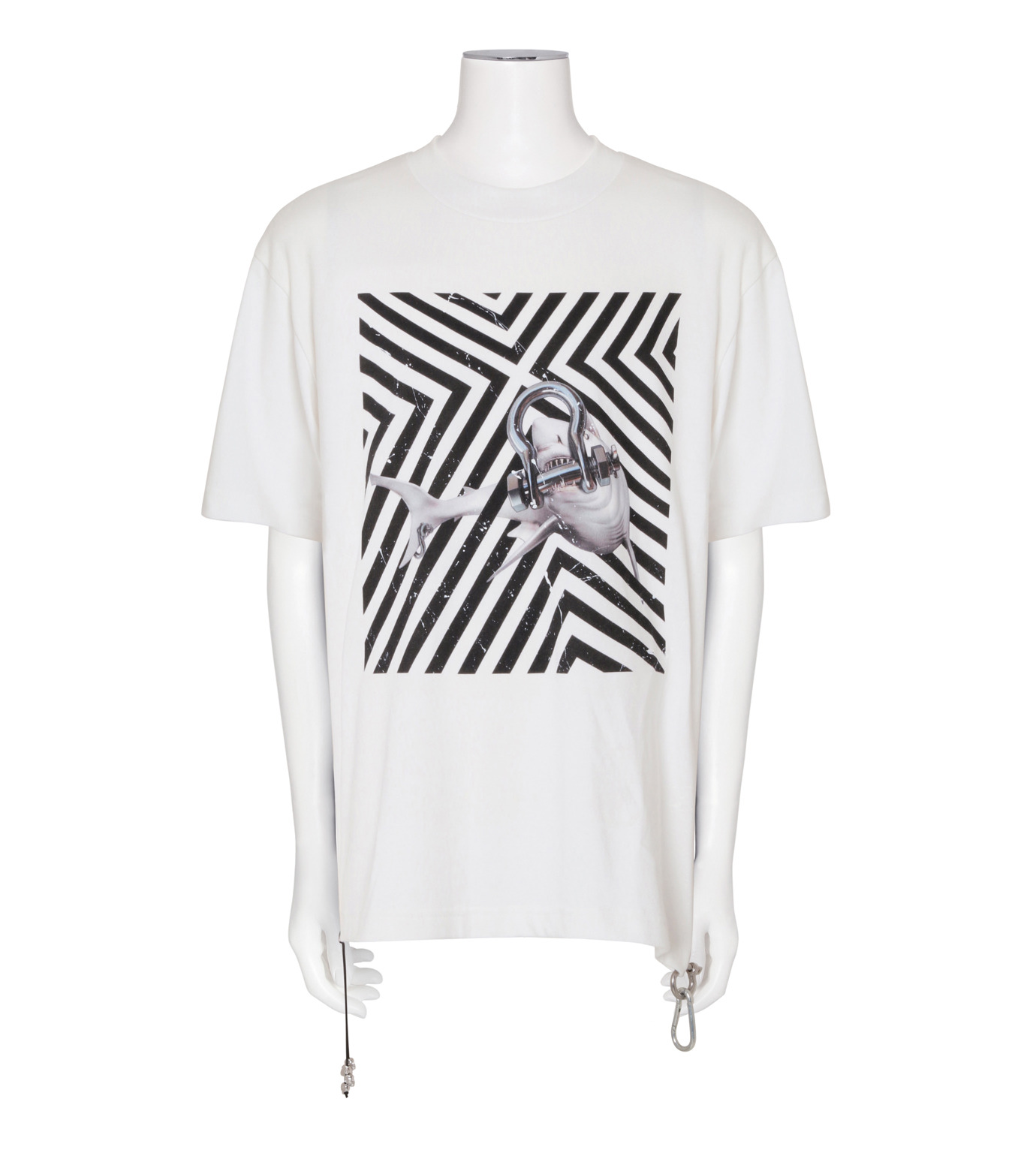CAVIALE(カビアーレ)のPrinted T-WHITE(カットソー/cut and sewn)-C210-C215-4 拡大詳細画像1