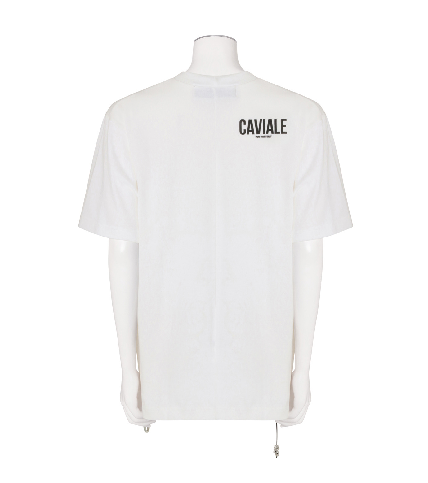 CAVIALE(カビアーレ)のPrinted T-WHITE(カットソー/cut and sewn)-C210-C215-4 拡大詳細画像2