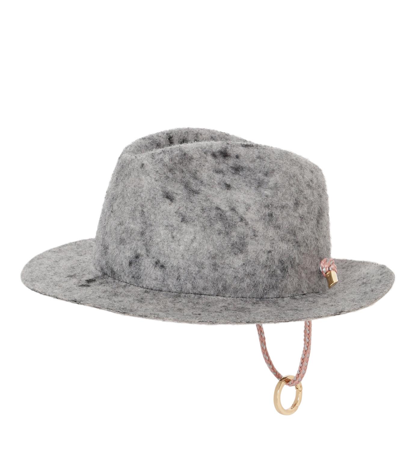 Federica Moretti(フェデリカ モレッティ)のBoiled felt Hat w/Rope-GRAY(キャップ/cap)-CAMO-11 拡大詳細画像1
