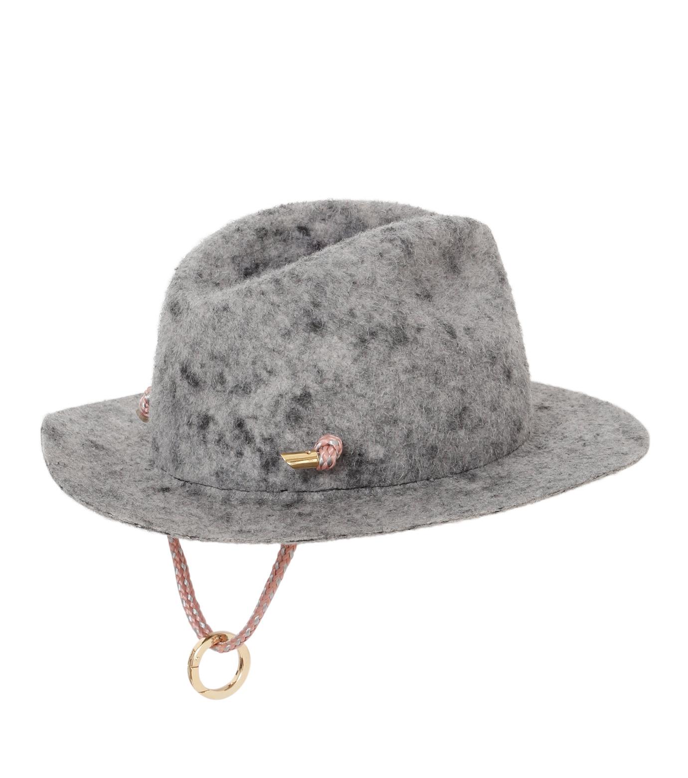 Federica Moretti(フェデリカ モレッティ)のBoiled felt Hat w/Rope-GRAY(キャップ/cap)-CAMO-11 拡大詳細画像2