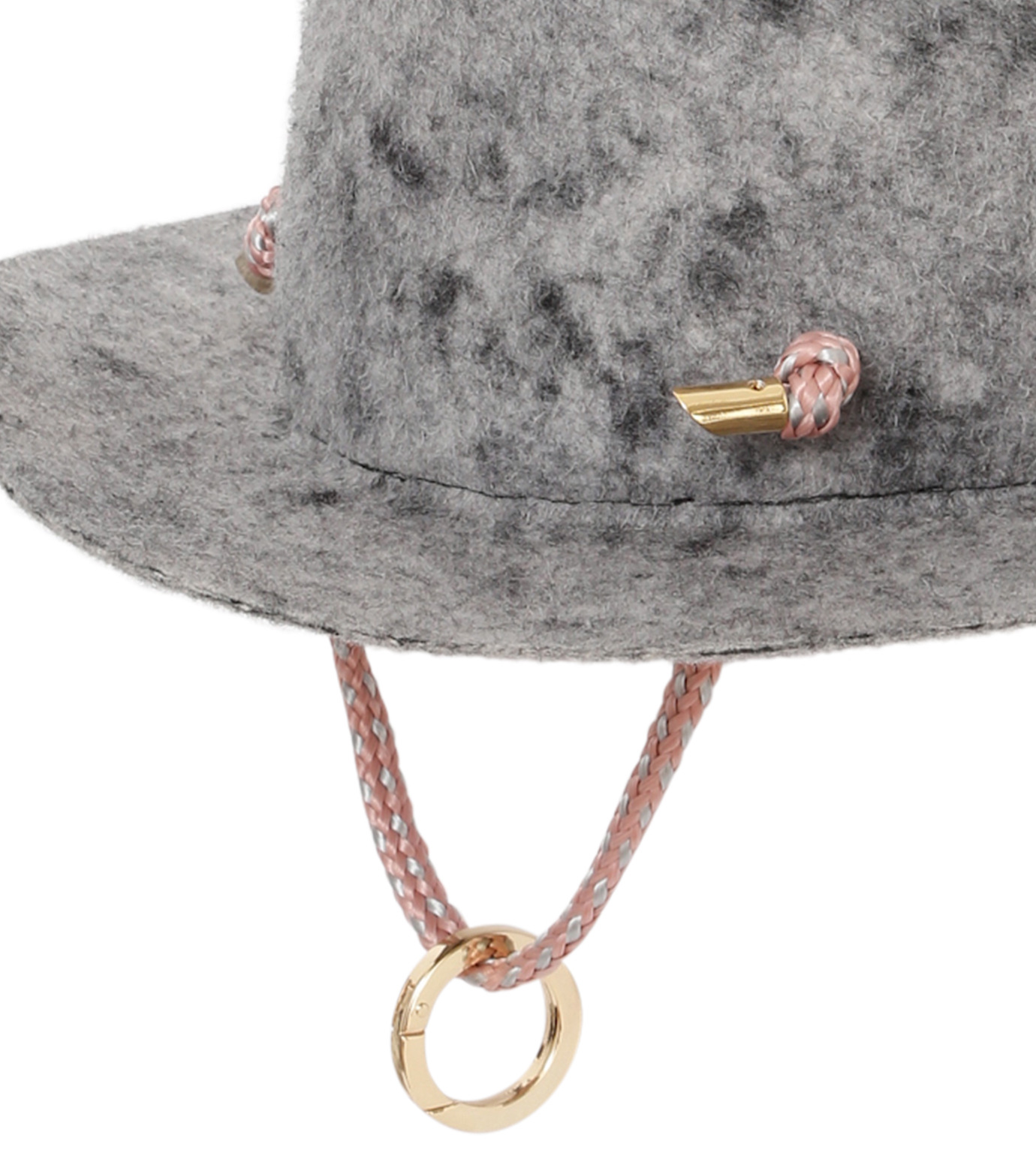 Federica Moretti(フェデリカ モレッティ)のBoiled felt Hat w/Rope-GRAY(キャップ/cap)-CAMO-11 拡大詳細画像3