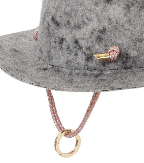 Federica Moretti(フェデリカ モレッティ)のBoiled felt Hat w/Rope-GRAY(キャップ/cap)-CAMO-11 詳細画像3