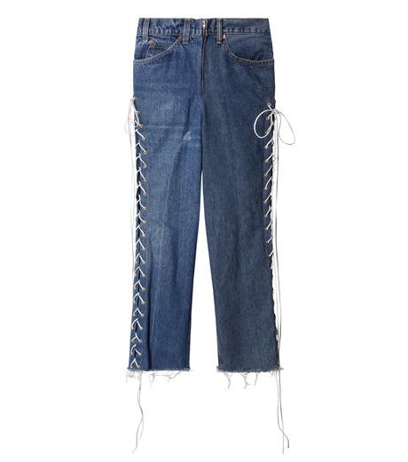 77circa(77サーカ)のCut Back Lace Up Denim Pants-INDIGO(デニム/denim)-CC16AW-46-94 詳細画像1