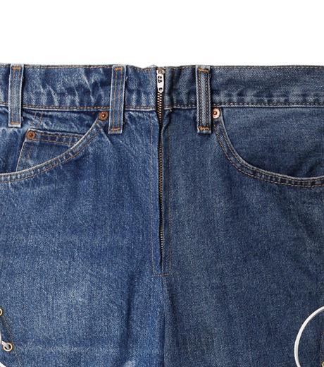 77circa(77サーカ)のCut Back Lace Up Denim Pants-INDIGO(デニム/denim)-CC16AW-46-94 詳細画像2